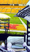 Stadium Drawings Originals - The Steel City by Chris Ripley