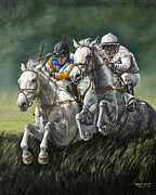 Kentucky Derby Painting Metal Prints - The Steeplechase Metal Print by Thomas Allen Pauly