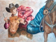 Charme Curtin - The Steer Wrestler