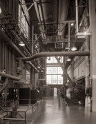 Boiler Photos - The Stegmaier Brewery Boiler Room Wilkes Barre Pennsylvania 1930s by Arthur Miller