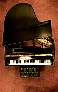 Musical Instruments Framed Prints - The Steinway M Framed Print by Greggory Poitras