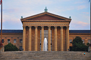 Museum Of Art Prints - The Steps of the Philadelphia Museum of Art Print by Bill Cannon