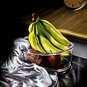 Fruit Bowl Paintings - The Still of Peace by Reggie Duffie