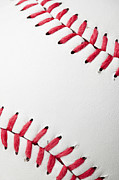 Baseball Close-up Posters - The Stitching In A Clean, New Baseball Poster by Jill Fromer