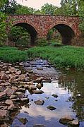 Bull Creek Prints - The Stone Bridge at Manassas Print by Brian M Lumley