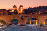 Posters Pyrography - The Stone Bridge in Verona   Il Ponte di Pietra a Verona by Andrea Franchi