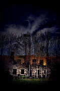 Abandoned Houses Prints - The Stone House Print by Emily Stauring