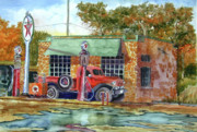 Pumps Painting Prints - The Stone Texaco Print by Ron Stephens
