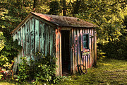 Digital Image Prints - The Storage Shed Print by Tom Prendergast