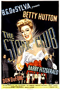Long Gloves Photo Prints - The Stork Club, Don Defore, Betty Print by Everett