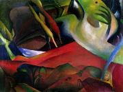 Abstract Expressionist Metal Prints - The Storm Metal Print by August Macke