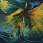 Hybrid Paintings - The Storm Eater by Jennifer Christenson