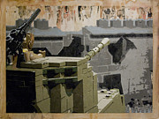 Berlin Tapestries Textiles Originals - The Storming of Berlin by Josh Bernstein