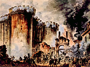 French Revolution Art - The Storming Of The Bastille, Paris by Everett