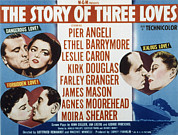 Caron Framed Prints - The Story Of Three Loves, Kirk Douglas Framed Print by Everett