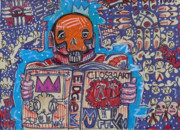 Graffiti Prints - The Story Teller Print by Robert Wolverton Jr