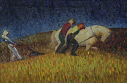 Impressionistic Horse Paintings - The Strange Dream by Willoughby  Senior