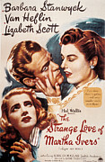 Love Triangle Posters - The Strange Love Of Martha Ivers Poster by Everett