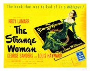 Lamarr Posters - The Strange Woman, Hedy Lamarr, 1946 Poster by Everett