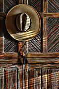 Shadows Photos - The Straw Hat by Karen Slagle