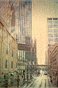 Manipulated Posters - The Streets of Minneapolis Poster by Susan Stone