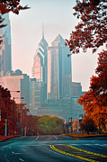 Philadelphia Digital Art Prints - The Streets of Philadelphia Print by Bill Cannon