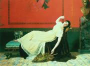 Chaise Painting Prints - The Studio Print by Sophie Anderson