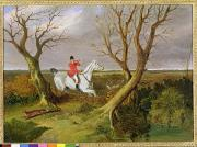 Hunting Posters - The Suffolk Hunt - Gone Away Poster by John Frederick Herring Snr