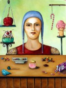 Shirt Framed Prints - The Sugar Addict Framed Print by Leah Saulnier The Painting Maniac