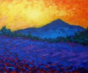 Rural Paintings - The Sugar Loaf - County wicklow by John  Nolan