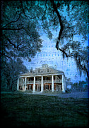 Mansion Digital Art Prints - The Sugar Palace - River Road Blues Print by Lianne Schneider