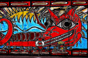Mural Photos - The Sun and the Serpent by Colleen Kammerer