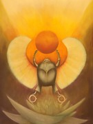Goddess Mythology Paintings - The Sun at Night by Roger Williamson