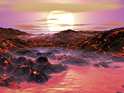 Geography Digital Art - The Sun Begins Its Journey by Walter Myers