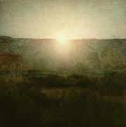 Morning Sunrise Posters - The Sun Poster by Giuseppe Pellizza da Volpedo