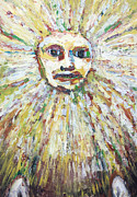 Astronomical Art Paintings - The Sun God by Kazuya Akimoto