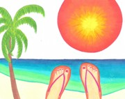 Feet Art - The Sun Makes Me Lazy by Geree McDermott