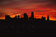 The Sun Rises Over The Skyline Print by Stephen Alvarez