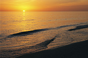 Atlantic Beaches Framed Prints - The Sun Sinks Into The Gulf Of Mexico Framed Print by Klaus Nigge
