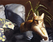 Tabby Art - The Sunbath by The Vintage Painter