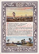 King James Framed Prints - The Sunday at Home 1880 - Psalm 23 Framed Print by Pg Reproductions