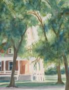Building Painting Originals - The Sunlit Porch by Jenny Armitage