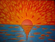 Engrossed Framed Prints - THE SUNRISE- Acrylic on Canvas Framed Print by Sebastian Joseph