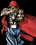 Boxer Digital Art Metal Prints - The Super Boxer Metal Print by Frank Mwamba