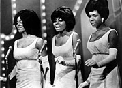 Long Gloves Prints - The Supremes Florence Ballard, Diana Print by Everett