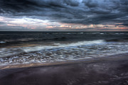 Storm Clouds; Sunset; Twilight; Water Metal Prints - The Surf Metal Print by Matt Dobson