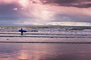 Surfing Photo Prints - The Surfer Print by Justin Albrecht