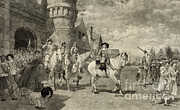 Colonial Man Prints - The Surrender Of New Amsterdam, 1664 Print by Photo Researchers