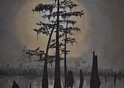 Bayous Painting Prints - The Swamps Print by Patricia Morales