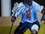Lacrosse Paintings - The Swashbuckler by Kenneth DelGatto